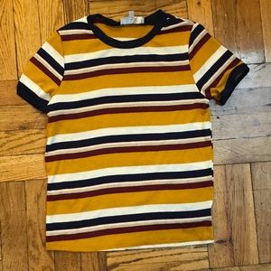 NWOT Juniors small striped top